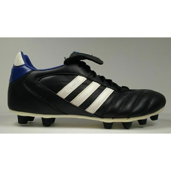 quality design a73a7 50a04 adidas Leather Soccer Cleats Rare 2004 Adidas Libero lll FG Black Soccer  Cleats . ...